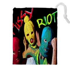 Pussy Riot Drawstring Pouches (xxl) by Valentinaart