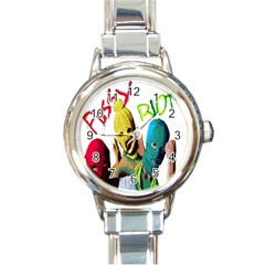 Pussy Riot Round Italian Charm Watch by Valentinaart