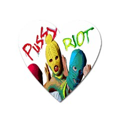 Pussy Riot Heart Magnet by Valentinaart