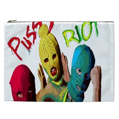 Pussy Riot Cosmetic Bag (xxl)  by Valentinaart