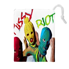 Pussy Riot Drawstring Pouches (extra Large) by Valentinaart