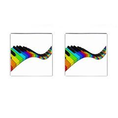 Rainbow Piano  Cufflinks (square) by Valentinaart