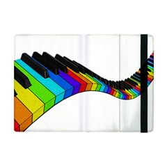 Rainbow Piano  Apple Ipad Mini Flip Case by Valentinaart