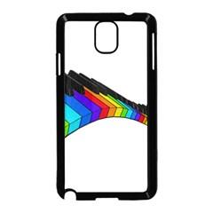 Rainbow Piano  Samsung Galaxy Note 3 Neo Hardshell Case (black) by Valentinaart