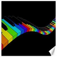 Rainbow Piano  Canvas 16  X 16   by Valentinaart