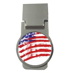 American Flag Money Clips (round)  by Valentinaart