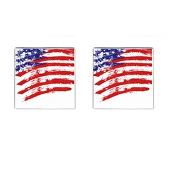 American Flag Cufflinks (square) by Valentinaart