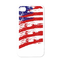 American Flag Apple Iphone 4 Case (white) by Valentinaart