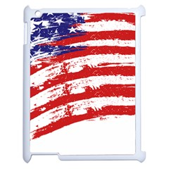 American Flag Apple Ipad 2 Case (white) by Valentinaart