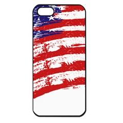 American Flag Apple Iphone 5 Seamless Case (black) by Valentinaart