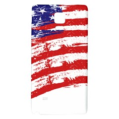American Flag Galaxy Note 4 Back Case by Valentinaart