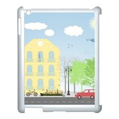 Urban Scene Apple Ipad 3/4 Case (white) by linceazul