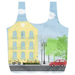 Urban Scene Full Print Recycle Bags (L)  by linceazul