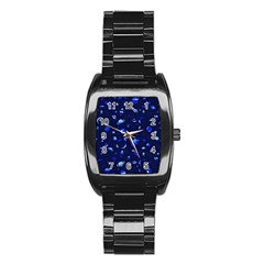 Space Pattern Stainless Steel Barrel Watch by ValentinaDesign