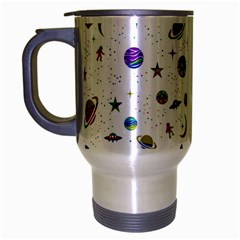 Space Pattern Travel Mug (silver Gray) by ValentinaDesign