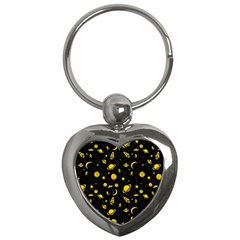 Space Pattern Key Chains (heart)  by ValentinaDesign