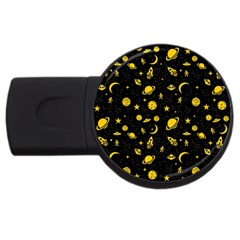 Space Pattern Usb Flash Drive Round (2 Gb) by ValentinaDesign