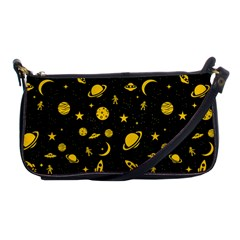 Space Pattern Shoulder Clutch Bags by ValentinaDesign