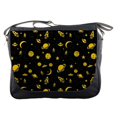 Space Pattern Messenger Bags by ValentinaDesign
