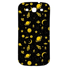 Space Pattern Samsung Galaxy S3 S Iii Classic Hardshell Back Case by ValentinaDesign