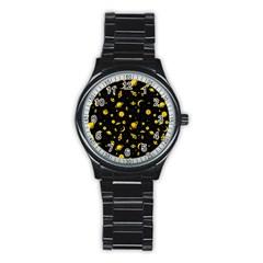 Space Pattern Stainless Steel Round Watch by ValentinaDesign