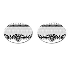 Transparent Lace Decoration Cufflinks (oval) by Nexatart