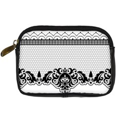 Transparent Lace Decoration Digital Camera Cases by Nexatart