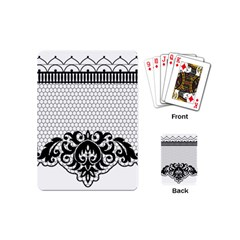 Transparent Lace Decoration Playing Cards (mini)  by Nexatart