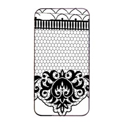 Transparent Lace Decoration Apple Iphone 4/4s Seamless Case (black) by Nexatart