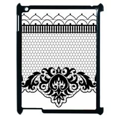 Transparent Lace Decoration Apple Ipad 2 Case (black) by Nexatart
