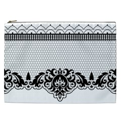 Transparent Lace Decoration Cosmetic Bag (xxl)  by Nexatart