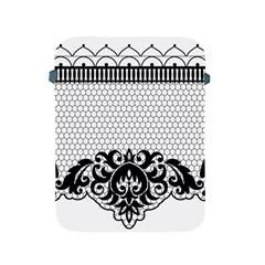 Transparent Lace Decoration Apple Ipad 2/3/4 Protective Soft Cases by Nexatart