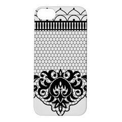 Transparent Lace Decoration Apple Iphone 5s/ Se Hardshell Case by Nexatart