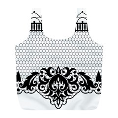 Transparent Lace Decoration Full Print Recycle Bags (l)  by Nexatart