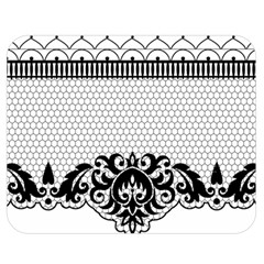 Transparent Lace Decoration Double Sided Flano Blanket (medium)  by Nexatart