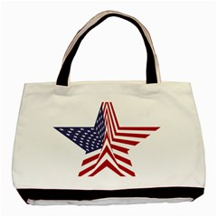 A Star With An American Flag Pattern Basic Tote Bag by Nexatart