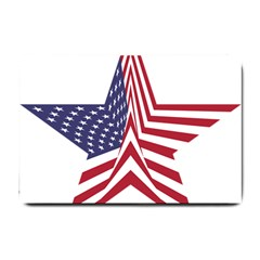 A Star With An American Flag Pattern Small Doormat  by Nexatart