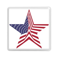 A Star With An American Flag Pattern Memory Card Reader (square)  by Nexatart