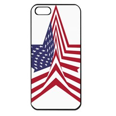 A Star With An American Flag Pattern Apple Iphone 5 Seamless Case (black) by Nexatart