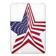 A Star With An American Flag Pattern Kindle Fire Hd 8 9  by Nexatart