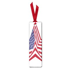 A Star With An American Flag Pattern Small Book Marks by Nexatart