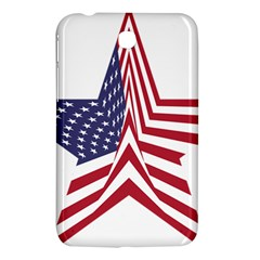 A Star With An American Flag Pattern Samsung Galaxy Tab 3 (7 ) P3200 Hardshell Case  by Nexatart