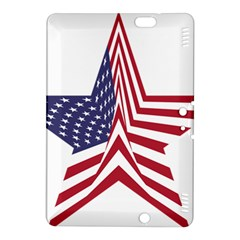 A Star With An American Flag Pattern Kindle Fire Hdx 8 9  Hardshell Case by Nexatart