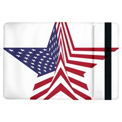 A Star With An American Flag Pattern Ipad Air Flip by Nexatart