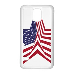 A Star With An American Flag Pattern Samsung Galaxy S5 Case (white) by Nexatart