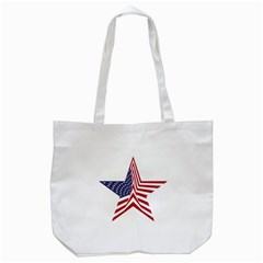 A Star With An American Flag Pattern Tote Bag (white) by Nexatart