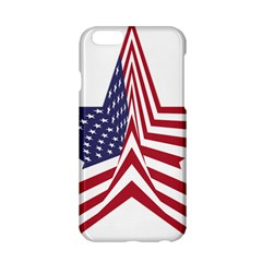 A Star With An American Flag Pattern Apple Iphone 6/6s Hardshell Case by Nexatart