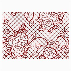 Transparent Decorative Lace With Roses Large Glasses Cloth by Nexatart