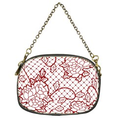 Transparent Decorative Lace With Roses Chain Purses (one Side)  by Nexatart