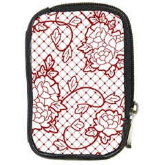 Transparent Decorative Lace With Roses Compact Camera Cases by Nexatart